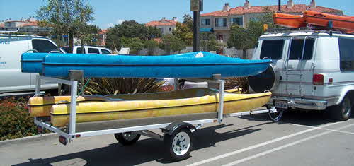 Catayaks on a Trailer